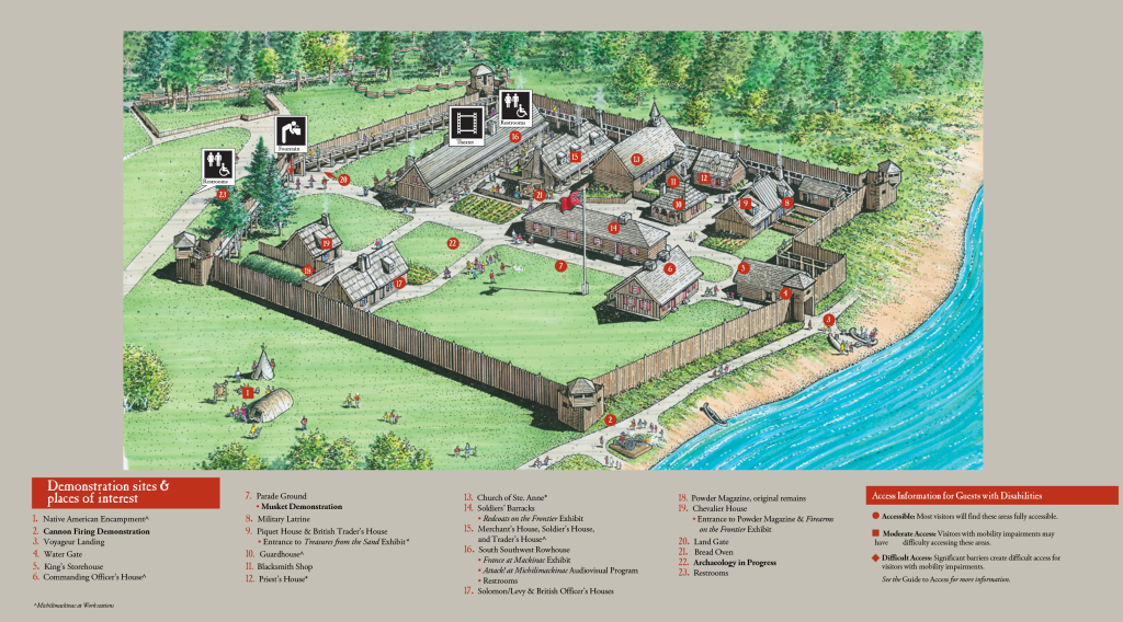 st augustine attractions map with Colonial Michilimackinac Map on Amelia Island Map moreover Famous Historical Landmarks Florida 59362 likewise Smithsonian Museum Natural History in addition Mission Beach also Florida Maps.