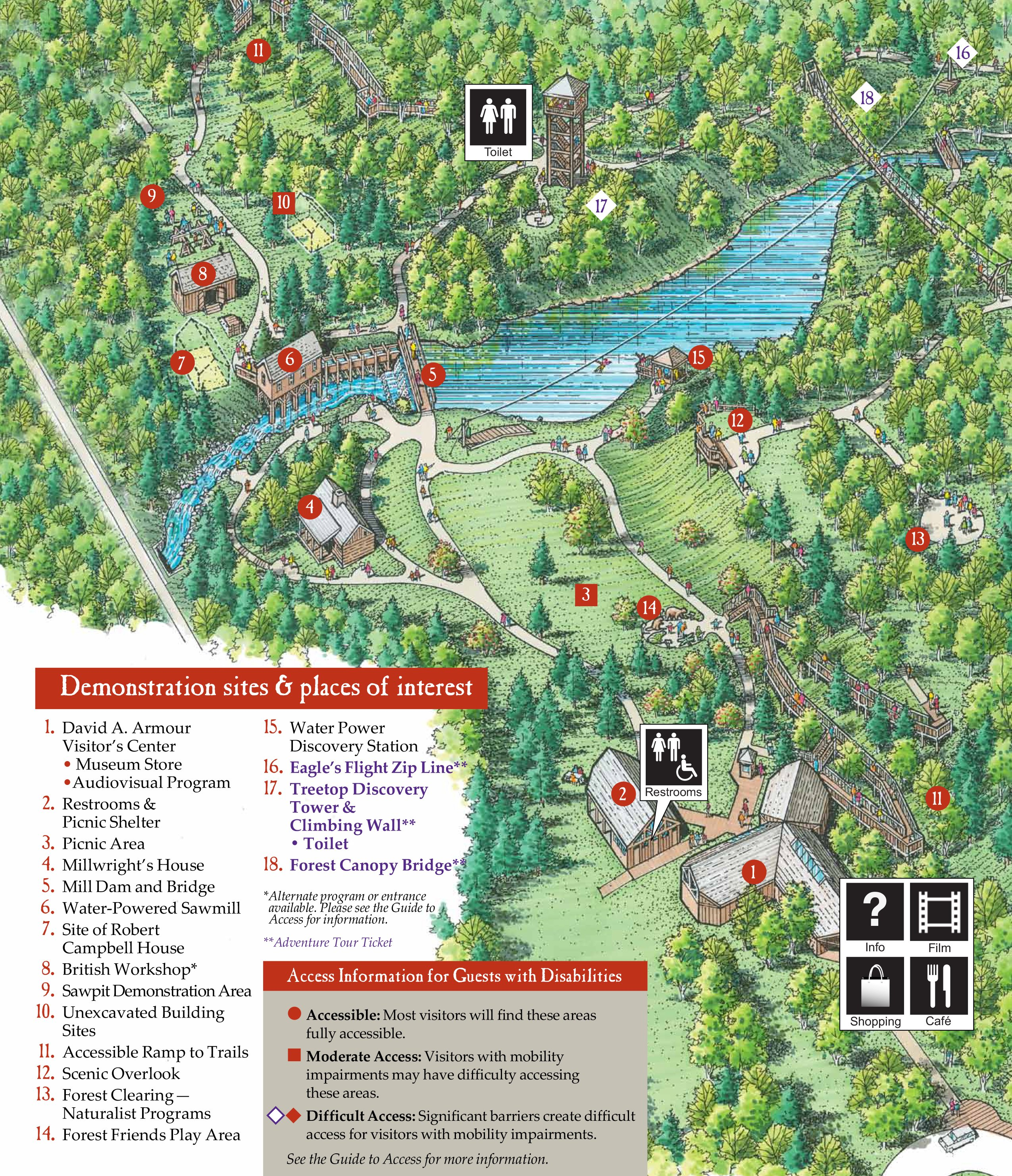 Zip Line Eagle Island State Park Map