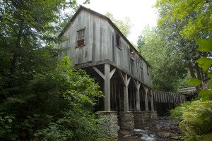 Historic Mill Creek Discovery Park Sawmill and Stream