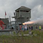 Colonial Michilimackinac Cannon Firing