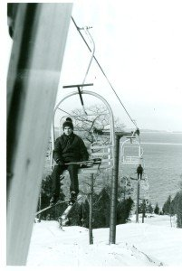 On Chair Lift Mt. Humbard