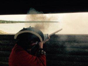 Soldier Firing Wall Gun