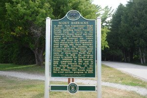 New historic marker at the Scout Barracks