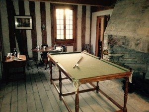 Old exhibits in the Commanding Officer's House included a billiard room. Research indicates that while there was likely a billiard room at Michilimackinac, it was not in the commander's house. This room will be the DePeyster's bedroom in the new exhibit.