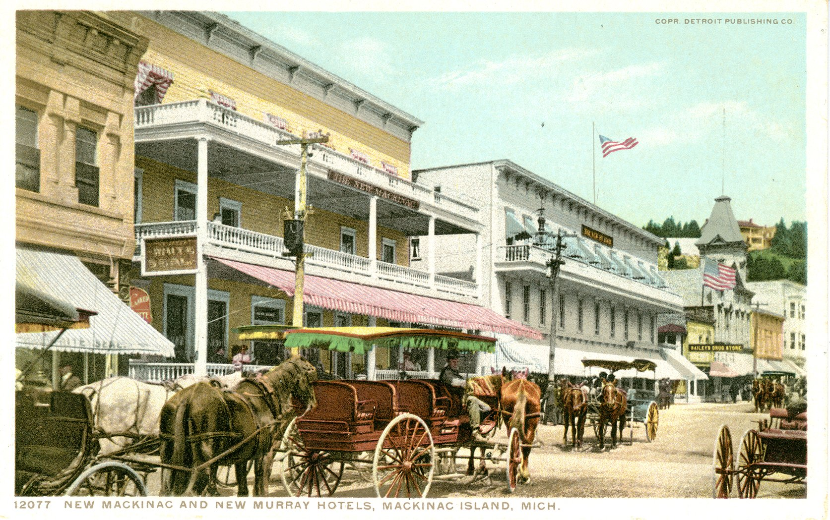 1906 Postcard Shows The Relationship Of Structure To Murray Hotel Next