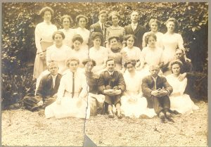 The hotel staff a year or two later. Martha Elliott Fitzgerald is in the middle row, third from left. These two staff images are courtesy of Lisa Brock, granddaughter of Fitzgerald.