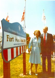 President Gerald Ford and First Lady Betty Ford visit Fort Mackinac. 1975