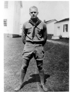 A young Gerald Ford in 1929 as an Eagle Scout serving at Fort Mackinac as part of the Governor's Honor Guard.