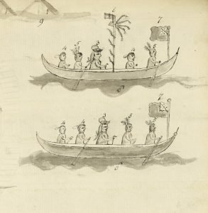 A combined British-Native force from Fort Edward Augustus helped diffuse tensions at Michilimackinac following the attack of 1763. Courtesy of British Library
