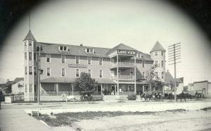 The Lake View Hotel, built 1858, shown around 1910.