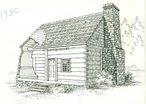 The McGulpin House as it appeared in 1780.