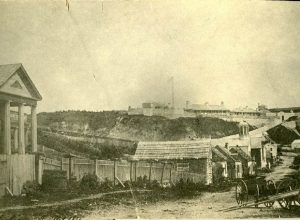 This is probably the first or one of the first photographs taken on the island in the late 1850's. More than likely this is how the fort and Market Street appeared in 1862 with the arrival of the Stanton Guard and their prisoners.