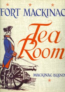 Tea Room menu from the 1960s.
