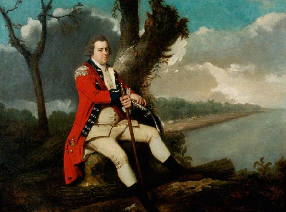 Sometime before his retirement, likely in 1787, Etherington commissioned a portrait of himself resting on a hillside on St. Vincent. The painting is currently held by the Royal Green Jackets Museum in Winchester, England. Courtesy of the Royal Green Jackets (Rifles) Museum