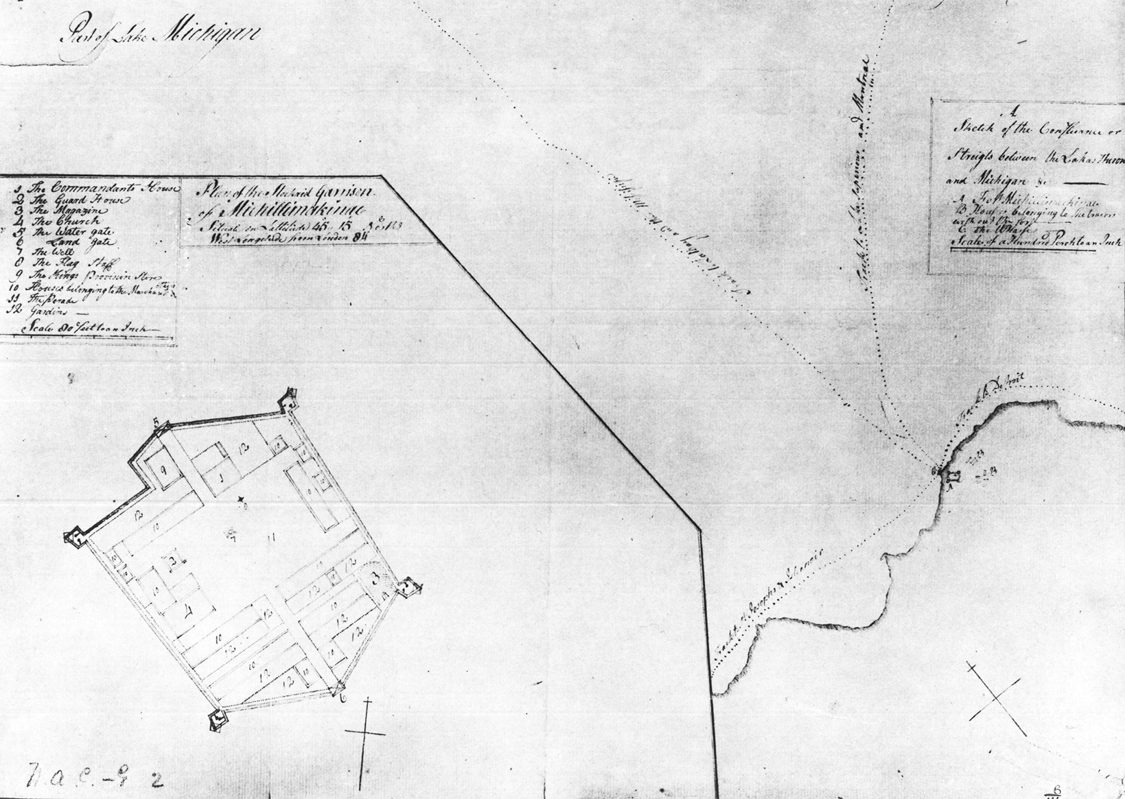 Fort Michilimackinac Map