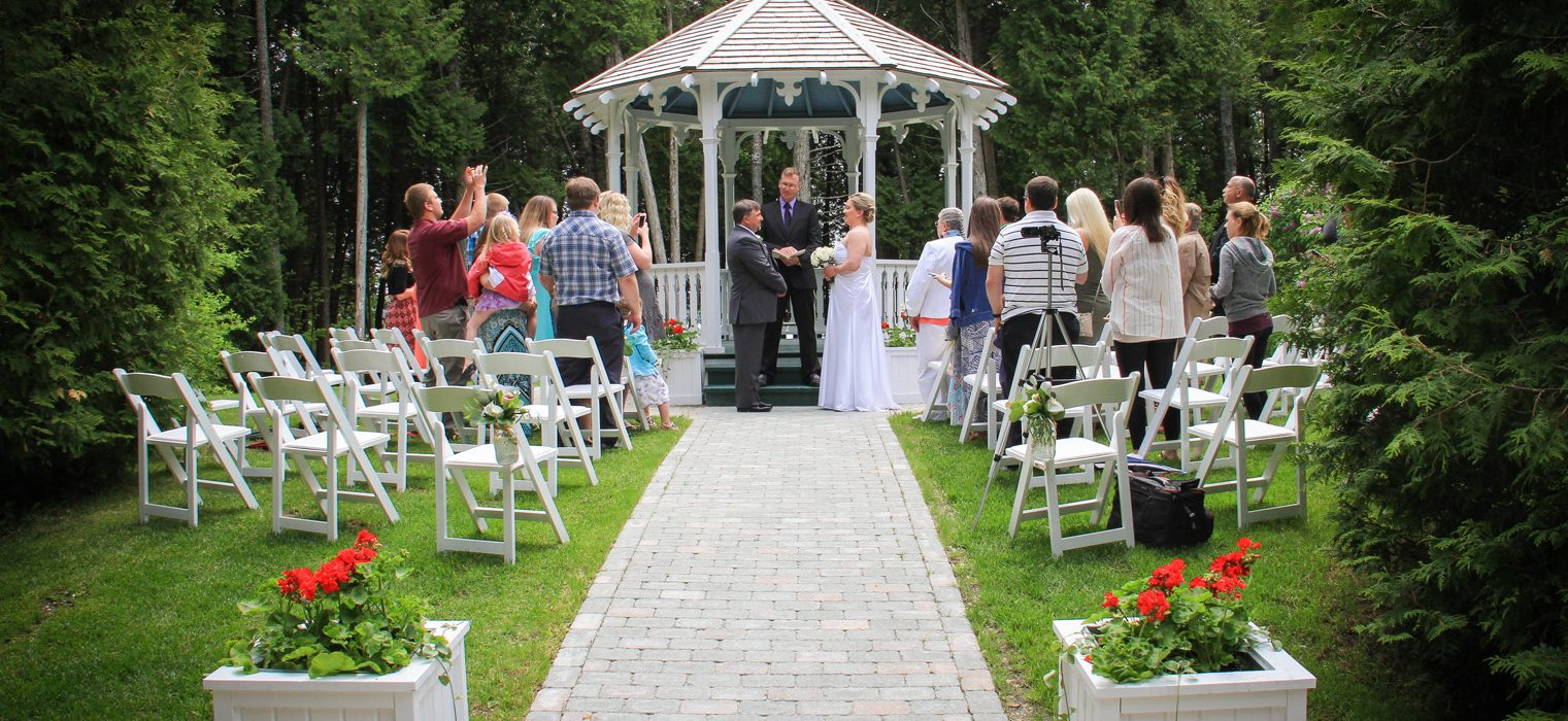 Somewhere In Time Gazebo Wedding Mackinac State Historic Parks