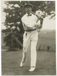 Walter Hagen, pictured at the U.S. Open Championship in 1919, which he won. Courtesy New York Public Library.