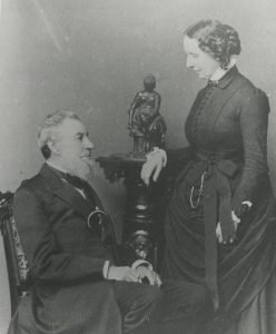 A picture of Gurdon Hubbard and his wife, Mary.