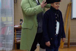 Presenting a program at the Gros Cap School near St. Ignace.