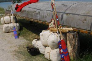 canoe and goods