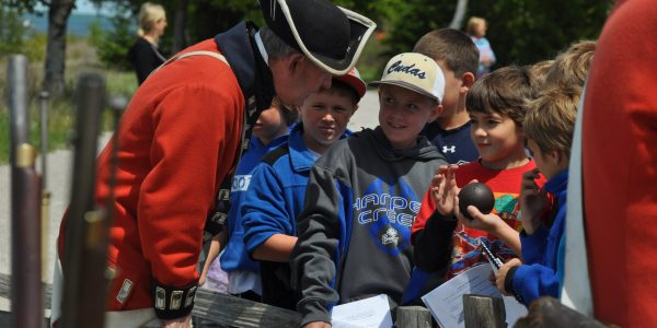 Visitors at Cannon Firing | Colonial Michilimackinac