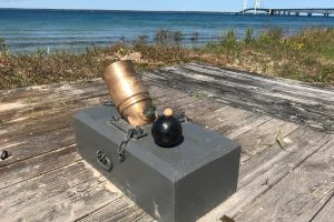 Small bronze mortars, which fired explosive shells in a high arc, also made up part of Fort Mackinac's early defenses.