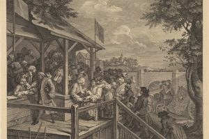 William Hogarth, The Polling, 1758. William Hogarth cynically satirized the voting process in this view of a rural British election in 1758. Miriam and Ira D. Wallach Division of Art, Prints, and Photographs, New York Public Library