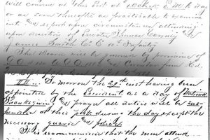 """On November 28th, 1883, Captain Edwin Sellers wrote an order commanding that regular duties be suspended the following day. """"Tomorrow the 29th having been appointed by the President as a day of National Thanksgiving and prayer all duties will be suspended at this post during this day except the necessary guard and police."""""""