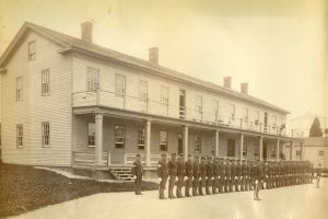 Companies E and K, 23rd Infantry, at Fort Mackinac, 1886