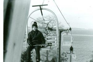 On Chair Lift Mt. Humbard